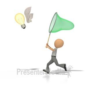 ID# 1219 - Catch An Idea  - Presentation Clipart