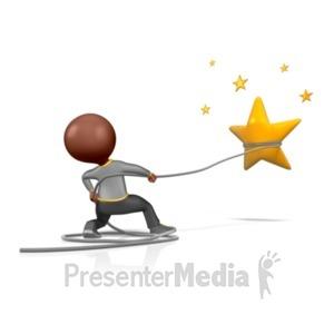 ID# 1224 - Catch A Star  - Presentation Clipart