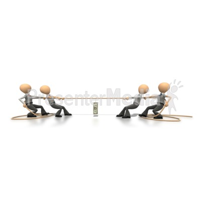 Tug Of War  PowerPoint Clip Art