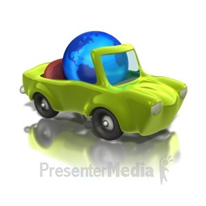 ID# 1228 - Earth Friendly Car  - Presentation Clipart