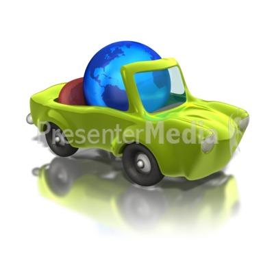 Earth Friendly Car  PowerPoint Clip Art