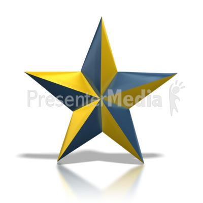 blue and gold star signs and symbols great clipart for rh presentermedia com Gold Star Clip Art Cluster Gold Glitter Star Clip Art
