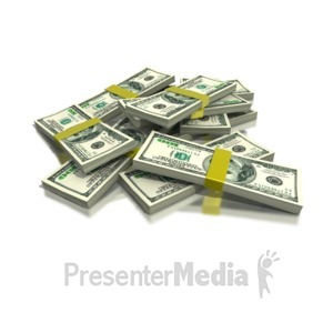 ID# 1231 - Stack of Money - Presentation Clipart