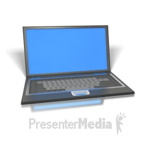 ID# 1233 - Laptop - Presentation Clipart