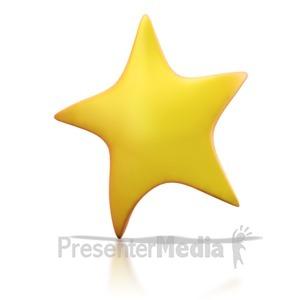 ID# 1241 - Golden Star - Presentation Clipart