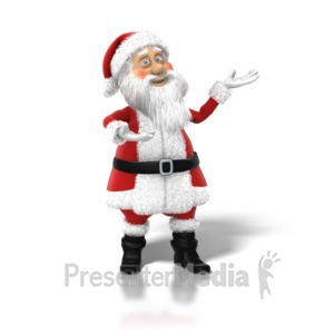 ID# 1252 - Santa Claus Posed - Presentation Clipart