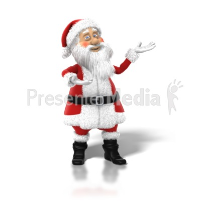 Santa Claus Posed PowerPoint Clip Art