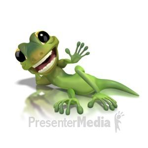 ID# 1262 - Gecko Lying Down  - Presentation Clipart