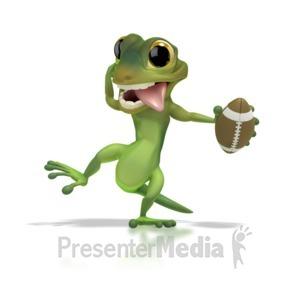 ID# 1268 - Gecko Football - Presentation Clipart