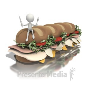 ID# 1282 - Hungry Man  - Presentation Clipart