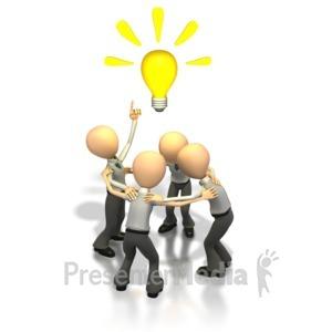 ID# 1283 - Brainstorming Idea  - Presentation Clipart