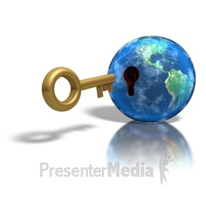 ID# 1288 - Large Key Insert Earth Hole - Presentation Clipart