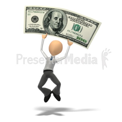 Money Happy PowerPoint Clip Art