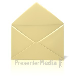 ID# 1299 - Envelope Open Plain  - Presentation Clipart