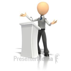 ID# 1304 - Speech Podium   - Presentation Clipart