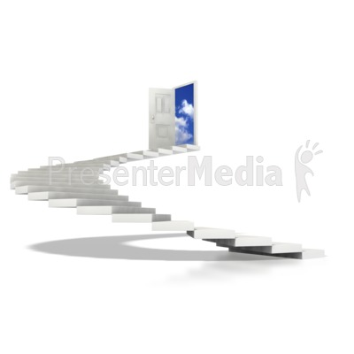 Stairs Spiral To Sky  PowerPoint Clip Art