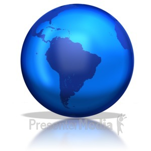 ID# 1316 - Earth Glassy  - Presentation Clipart
