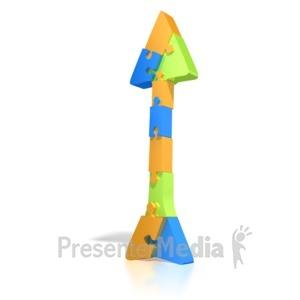 ID# 1328 - Puzzle Arrow  - Presentation Clipart