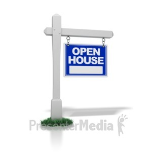ID# 1344 - Real Estate Sign Open House - Presentation Clipart