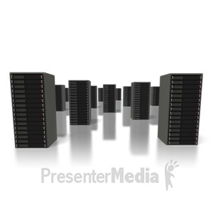 ID# 1392 - Server Farm - Presentation Clipart