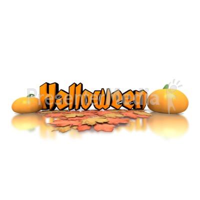 Halloween Pumpkins Text PowerPoint Clip Art