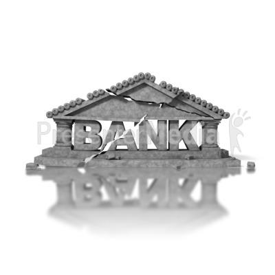 Crumbled Bank PowerPoint Clip Art
