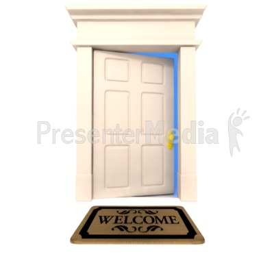 Open Door Clipart welcome mat door - home and lifestyle - great clipart for