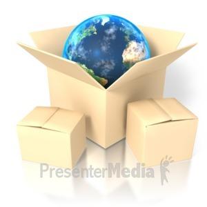 ID# 1421 - Earth In Box - Presentation Clipart