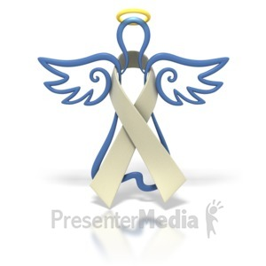 ID# 1442 - Angel Outline Pearl Ribbon - Presentation Clipart