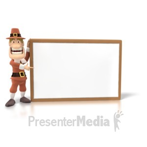 ID# 1461 - Pilgrim Sign Big - Presentation Clipart
