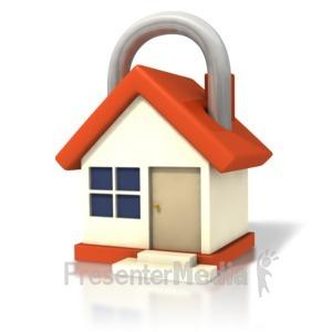 ID# 1489 - House Lock Closeup - Presentation Clipart