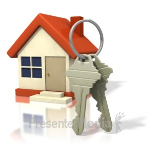 ID# 1492 - House With Big Keys - Presentation Clipart
