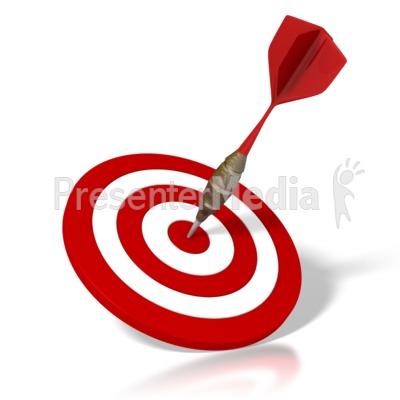 Dart And Target PowerPoint Clip Art