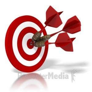 ID# 1502 - Bulls Eye Target - Presentation Clipart