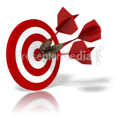 Bulls Eye Target PowerPoint Clip Art