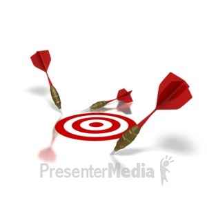 ID# 1505 - Miss The Target - Presentation Clipart