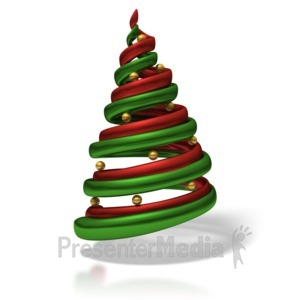 ID# 1506 - Stylized Christmas Tree - Presentation Clipart