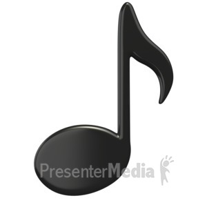 ID# 1510 - Music Eighth Note - Presentation Clipart