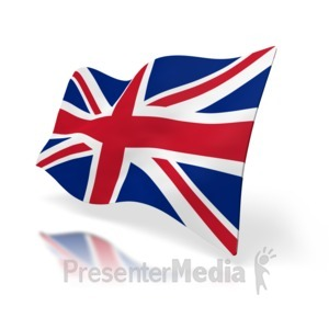 ID# 1517 - Uk Flag Perspective - Presentation Clipart