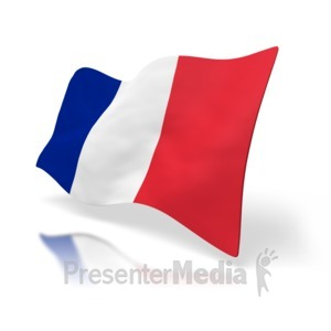 ID# 1519 - France Flag Perspective - Presentation Clipart