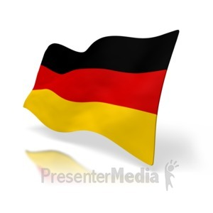 ID# 1520 - Germany Flag Perspective - Presentation Clipart