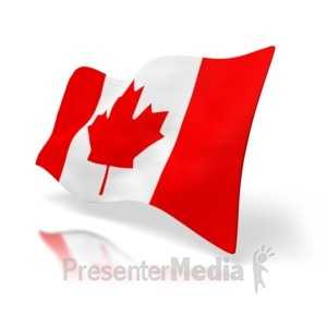 ID# 1522 - Canada Flag Perspective - Presentation Clipart