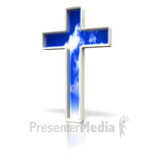 ID# 1533 - Cloud Cross - Presentation Clipart