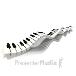 ID# 1541 - Piano Keys Long Wave - Presentation Clipart