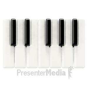 ID# 1543 - Piano Keys Basic - Presentation Clipart