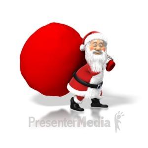 ID# 1556 - Santa Big Bag - Presentation Clipart