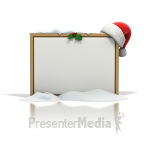 ID# 1568 - Christmas Seasonal Blank Snow Board - Presentation Clipart