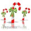 ID# 1573 - Three Candy Canes - Presentation Clipart