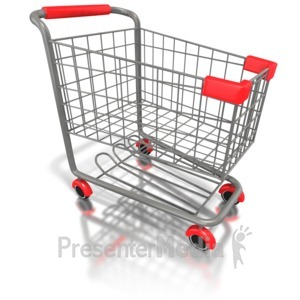 ID# 1583 - Empty Shopping Cart  - Presentation Clipart