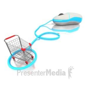 ID# 1585 - Internet shopping  - Presentation Clipart